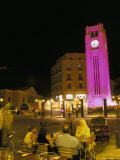 Cafes at Night, Place d'Etoile, Beirut, Lebanon, Middle East Photographic Print by Alison Wright