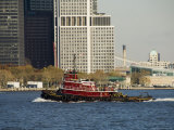 Tug on Hudson River, Manhattan, New York City, New York, USA Photographic Print by  R H Productions