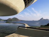 View Across Bay to Rio from Museo De Arte Contemporanea, by Oscar Niemeyer, Rio De Janeiro, Brazil Photographic Print by  Upperhall