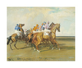 Under Starters Orders Premium Giclee Print by Sir Alfred Munnings