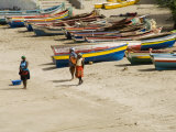 Fishing Boats, Tarrafal, Santiago, Cape Verde Islands, Africa Photographic Print by  R H Productions