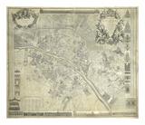 Nouveau Plan De Paris 1728 Premium Giclee Print by J. Delagrive