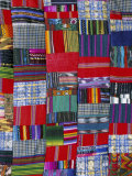Patchwork Quilt, San Antonio Aguas Calientes, Guatemala, Central America Photographic Print by Upperhall