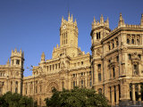 Central Post Office Facade, Madrid, Spain Photographic Print by  Upperhall