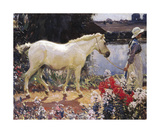 The Path To The Orchard Premium Giclee Print by Sir Alfred Munnings