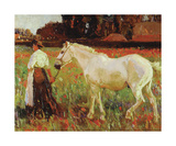 The Poppy Field Premium Giclee Print by Sir Alfred Munnings