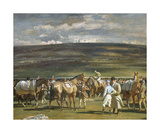 In The Saddling Paddock, March Meet, Cheltenham Premium Giclee Print by Sir Alfred Munnings