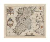 Hibernia Regnum Vulgo Ireland Premium Giclee Print by J. Jansson