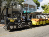 Tourist Train, Duval Street, Key West, Florida, USA Photographic Print by  R H Productions