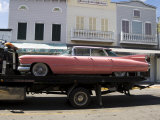 Pink Cadillac Being Transported, Duval Street, Key West, Florida, USA Photographic Print by  R H Productions