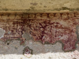Old Mural Painting, Mitla, Ancient Mixtec Site, Oaxaca, Mexico, North America Photographic Print by  R H Productions