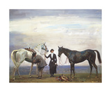 Changing Horses Premium Giclee Print by Sir Alfred Munnings