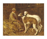 Boy With Greyhounds Lmina gicle de primera calidad por Sir Alfred Munnings