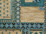 Close-Up of Turquoise Ceramics, Shah-I-Zinda Mausoleum, Samarkand, Uzbekistan, Central Asia Photographic Print by  Upperhall