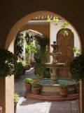 Typical Courtyard, Oaxaca City, Oaxaca, Mexico, North America Photographic Print by  R H Productions