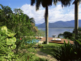 Sundeck and View Across the Bay, Pousada Picinguaba, Costa Verde, South of Rio, Brazil Photographic Print by  Upperhall