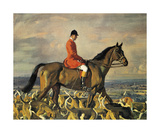 Portrait Of Major T. Bouch With The Belvoir Hounds Premium Giclee Print by Sir Alfred Munnings