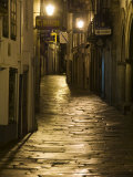 Night Scene, Santiago De Compostela, Galicia, Spain Photographic Print by  R H Productions