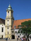 Town Hall Tower in Main Square, Bratislava, Slovakia Photographic Print by  Upperhall