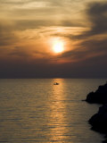 Sunset, Assos, Kefalonia (Cephalonia), Ionian Islands, Greece Photographic Print by  R H Productions