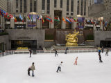 Ice Rink at Rockefeller Center, Mid Town Manhattan, New York City, New York, USA Photographic Print by R H Productions