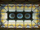 Tiffany Ceiling in Gran Hotel, Zocalo, Mexico City, Mexico, North America Photographic Print by  R H Productions