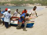 Fishing Boats, Tarrafal, Santiago, Cape Verde Islands, Africa Fotografisk tryk af  R H Productions