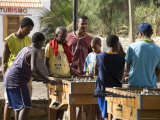 Playing Table Football at Cidade Velha, Santiago, Cape Verde Islands, Africa Photographic Print by  R H Productions