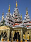 Kakusandha Adoration Hall, Shwedagon Pagoda, Yangon (Rangoon), Myanmar (Burma) Photographic Print by  Upperhall
