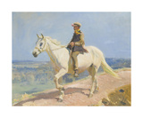 Shrimp On A White Welsh Pony Premium Giclee Print by Sir Alfred Munnings