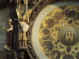 Close-Up of the Astronomical Clock, Town Hall, Old Town Square, Prague, Czech Republic Photographic Print by  Upperhall