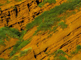 Detail of Red Cliff, Dzhety-Oguz, Near Kara-Kol, Kyrgyzstan, Central Asia Photographic Print by  Upperhall