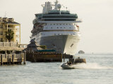 Cruise Ship, Key West, Florida, USA Photographic Print by R H Productions 