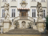 Facade, Inner Courtyard, Vranov Chateau, South Moravia, Czech Republic Photographic Print by  Upperhall