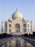 The Taj Mahal, Unesco World Heritage Site, Agra, Uttar Pradesh State, India Photographic Print by Upperhall