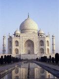 The Taj Mahal, Unesco World Heritage Site, Agra, Uttar Pradesh State, India Photographic Print by  Upperhall
