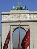 Triumphal Arch, Moncloa, Madrid, Spain Photographic Print by  Upperhall