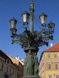 Elaborate Lamp Post, Hradcany, Prague, Czech Republic Photographic Print by Upperhall