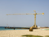 New Pier Under Construction, Santa Maria, Sal (Salt), Cape Verde Islands, Africa Photographic Print by  R H Productions