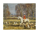 A November Morning Premium Giclee Print by Sir Alfred Munnings