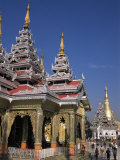 Kakusandha Adoration Hall, Shwedagon Pagoda, Yangon (Rangoon), Myanmar (Burma) Photographic Print by Upperhall