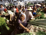 Vegetable Seller, Osh Bazaar, Bishkek, Kyrgyzstan, Central Asia Photographic Print by Upperhall