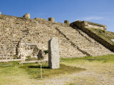 A Stela at the Ancient Zapotec City of Monte Alban, Near Oaxaca City, Mexico Photographic Print by  R H Productions