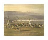 Belvoir Hounds Exercising In The Park Premium Giclee Print by Sir Alfred Munnings