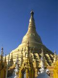 Shwedagon Pagoda with Surrounding Shrines, Yangon (Rangoon), Myanmar (Burma) Photographic Print by  Upperhall