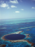 Blue Hole, Lighthouse Reef, Belize, Central America Photographic Print by  Upperhall