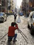 Wedding Photo Shoot in Soho, Manhattan, New York City, New York, USA Photographic Print by  R H Productions