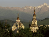 Zenkov Cathedral and Tien Shan Mountains, Almaty, Kazakhstan, Central Asia Photographic Print by Upperhall