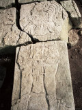 Stela 1, Dating from 741Ad, with Sides Cut by Looters, Aguateca, Peten, Guatemala, Central America Photographic Print by  Upperhall