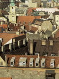 Old City Wall and City, Bratislava, Slovakia Photographic Print by  Upperhall